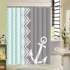 curtain with rings images Buy custom stripe shower curtain zigzag anchor jpg