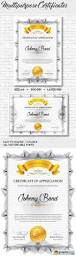 a4 multipurpose certificates psd template free download vector