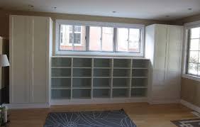 Livingroom Storage Living Room Built In Bookshelves And Closets Using Besta Shelves