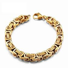 stainless link bracelet images Stainless steel byzantine quot birdcage quot chain link bracelet project jpg