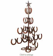 horseshoe christmas tree iron horseshoe christmas tree large