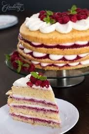 a classic victoria sponge filled with jam and whipped cream this