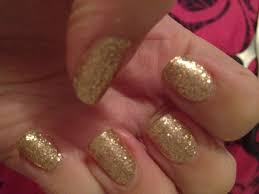 flutter and sparkle sally hansen gold glitter nail wraps