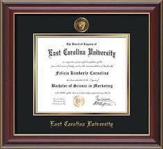 frames for diplomas east carolina diploma frames and displays custom made