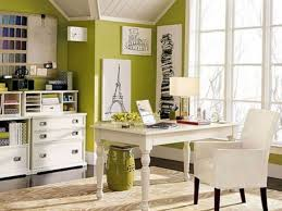 Small Work Office Decorating Ideas Small Office Office Decor Theme Featuring Chrome Glass Desk And