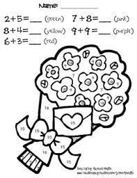 math addition coloring worksheets mreichert kids worksheets