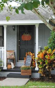 Fall Decorated Porches - best 25 fall front doors ideas on pinterest fall decorating
