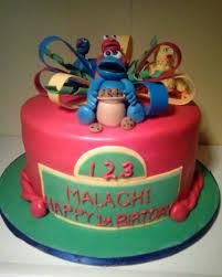 sesame street 1st birthday cake cake is covered in fondant figures