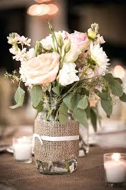 jar table decorations burlap centerpieces for baptism burlap floral centerpiece