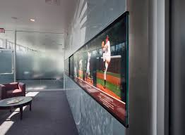 university of virginia baseball stadium at davenport field hall of at a more interactive level the mural walls hold a continuous band of digital and