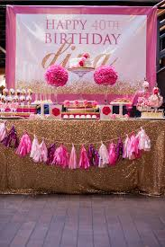 pink and gold party supplies kara s party ideas glamorous pink gold 40th birthday party