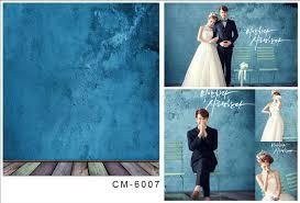 Wedding Backdrop Background Aliexpress Com Buy 5x7ft Blue Art Wall Wooden Floor For Wedding