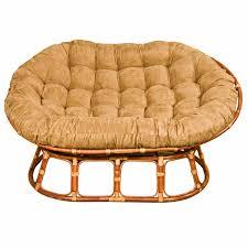 furniture mocha double papasan chair frame for elegant home
