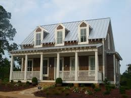 Modern Farmhouse Porch by Tallaway Stock Plan Designed By Mitch Ginn Front Porch Dormers