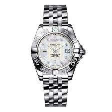 breitling steel bracelet images Breitling galactic 32 ladies 39 stainless steel bracelet watch