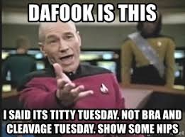 Titty Memes - dafook is this i said its titty tuesday not bra and cleavage