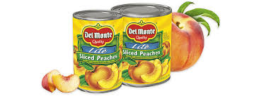 sliced yellow cling peaches lite del monte foods inc
