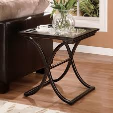 Copper Dining Room Table Amazon Com Southern Enterprises Vogue Side End Table Black With