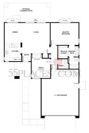 Garden Floor Plan by Rose Garden Floorplan 968 Sq Ft Sun City Roseville