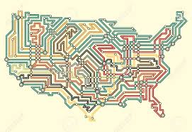 Map If The Usa by Illustrated Map Of The Usa In Underground Map Style Royalty Free