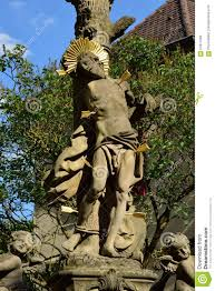 Bamberg Germany Map by St Sebastian Statue In Bamberg Germany Editorial Image Image