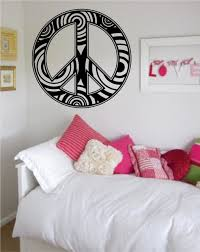 peace sign bedroom peace sign symbol wall decal vinyl wall stickers for kids room boys