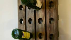 awesome wall wine rack wood handmade rustic french country