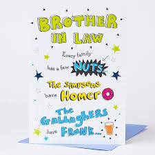 birthday card brother in law nuts sketch only 99p
