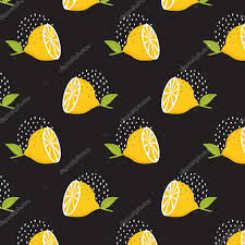 seamless lemon pattern lemon pattern on black background seamless pattern summer