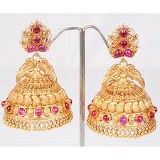 gold jhumka earrings jhumka earrings designs 2013 11