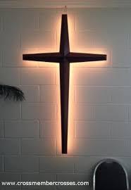 wooden wall crosses crossmember crosses back lighting for large wooden crosses