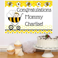 bumble bee baby shower bee baby shower personalized party poster