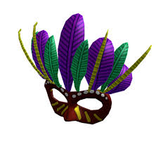 mardi gras mask with feathers mardi gras mask roblox