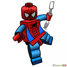 draw spider man lego super heroes