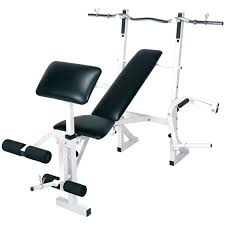 impex competitor multi function weight bench with curl bar