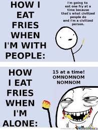 Create Fry Meme - eaating fries by gunitx meme center