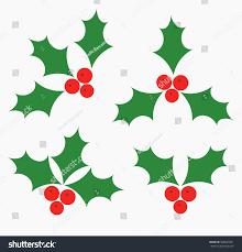 holly berries christmas symbols vector illustration stock vector