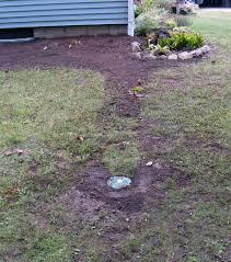 gutter downspout drainage sump basin discharge line drainage