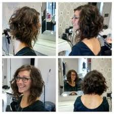 why is my hair curly in front and straight in back twist and pin back the front sections of a curly bob curly