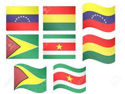 Guyana Flag South America Flags Venezuela Bolivia Guyana Suriname With Coats