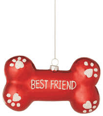 bone best friend tree ornament traditional