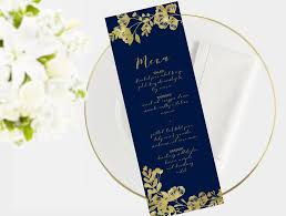 Wedding Menu Template Wedding Menu Template Editable Word Template Instant Download