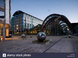 sheffield city centre winter garden and st pauls area stock