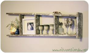 recycled ladder shelf olive on blonde