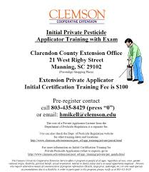 initial private pesticide applicator training with exam