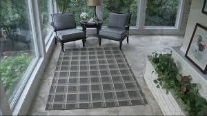 scott living 5x7 windowpane plaid indoor outdoor rug page 1
