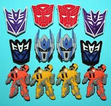transformers cake decorations transformers cake toppers 12 cupcake decorations charms deception