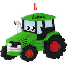 personalized tractor with ornament penned ornaments