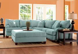 Blue Ottoman Coffee Table Furniture Blue Sofa Sectionals With Large Blue Ottoman Coffee