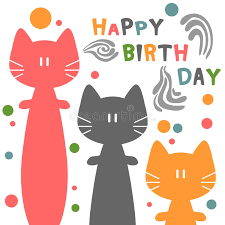birthday card with cats stock vector image of sweet 30382229